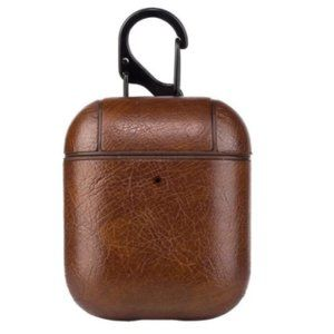 Vegan Leather AirPods Case - Dark Brown